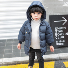 цена на Boys Girls Winter Down Jacket Kids Outerwear New Year's Costumes For Boy Warm 2-8 Y Baby Vest Child Hooded Coat Clothing Clothes