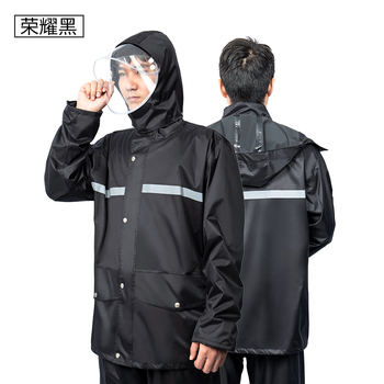 Waterproof Raincoat Scooter Outdoors Travel Overall Plastic Raincoat Clear Stylish with Hood Regenjacke Hooded Raincoats GG50YY