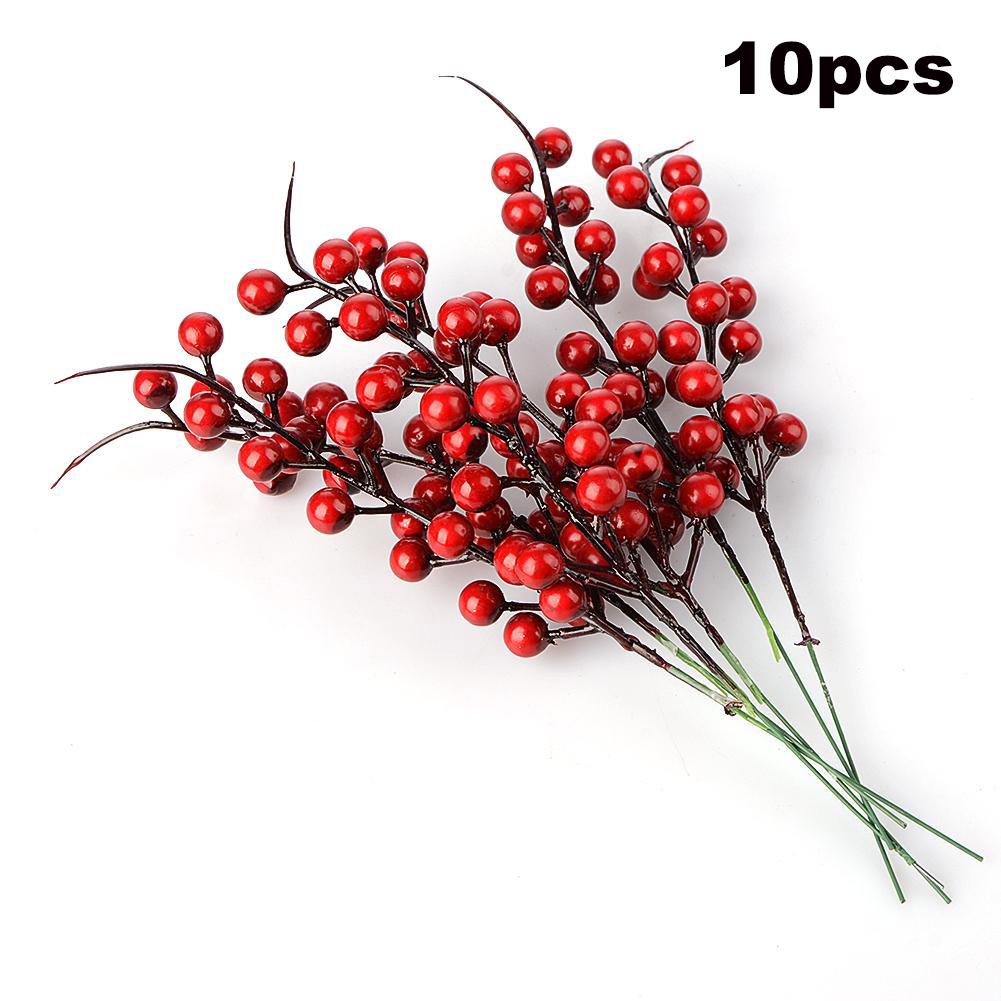 Christmas Berry Artificial Pine Cone For Christmas Decoration Fake Flower Artificial Pine Tree Branch DIY Home Party Decor-1
