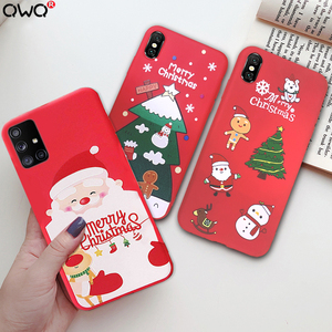 Christmas Shockproof Case For Samsung Galaxy A51 A50 A71 A70 A40 A30 A20 A10 A7 S10E S7 S8 S9 S10 S20 Plus Note 10 8 9 20 Ultra