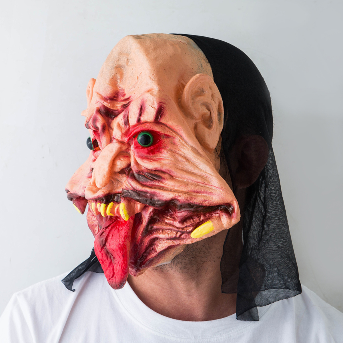 Halloween Festival Party Supplies Scary Mask Horrifying Mask Mask With For Red Tongue Distorted Mouth Creepy Mask 2019