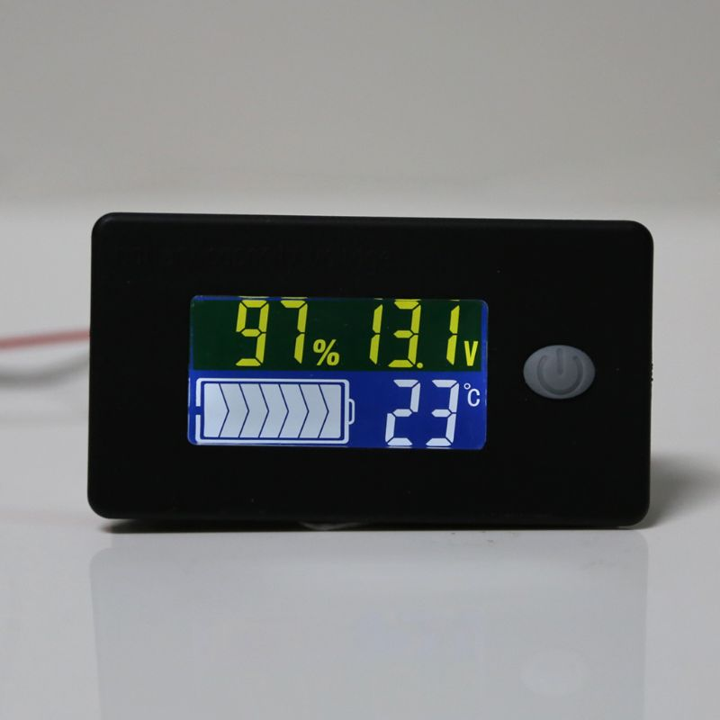 Индикатор емкости аккумулятора 12 В 24 в 36 в 48 в 60 в 72 в 10-100 в тестер литий-ионных свинцово-кислотных аккумуляторов с ЖК-дисплеем