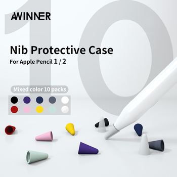 10pcs Silicone Replacement Nib Protective Cover Skin for Apple Pencil tip Tablet stylus Touch Pen For Tip - discount item  61% OFF Tablet Accessories