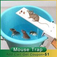 Controlador de plagas para el hogar, trampa para ratas, para caminar, jardín, Tablón, ratón, reinicio automático, cubo, tablero, ratón, receptor, balancín