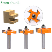 TALI 8mm Shank T Slot Milling Cutter With Top Bearing Woodworking Router Bits Cutter 1pcs 1 4 8mm 1 2 shank top quality t slot
