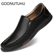 2019 new fashion men's shoes casual leather loafers male brown white black shoe man nice flats driving shoes for men size 37-47 цена