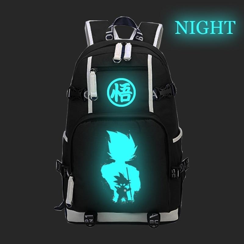 Casual Dragon Luminous Backpack Students Ball Goku Back To School College Daily Rucksack Daily Mochila For Teen Men Women