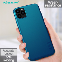 For iPhone 11 XI 11 Pro Max 2019 Case NILLKIN Super Frosted Shield PC Plastic Hard Phone Case For iPhone 11 11Pro Max Back Cover radio pattern protective pc back cover case w front screen shield for iphone 5 grey