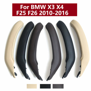 Car Interior Left Right Passenger Door Handle Grab Leather Cover Trim Replacement ForBMW X3 X4 F25 F26 2010-2016