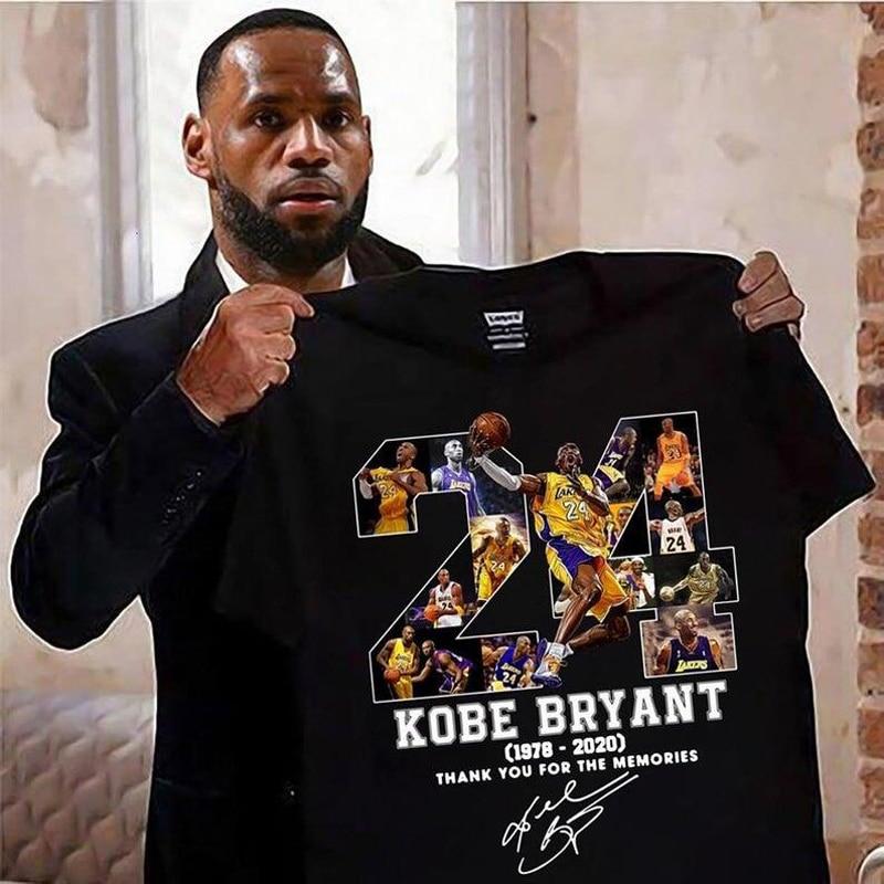 Kobe Bryant Black Mamba Men's T-shirt Top Fashion Short Sleeve Tops Men Tshirt Tee Hip Hop Funny Letter 24 T Shirt