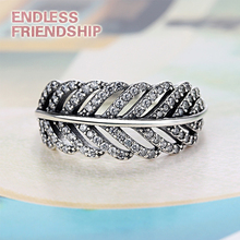 цена на AAA Zirconia Classic Popular Silver Color Leaves Brand Finger Rings Cheap Ring Women Fashion Jewelry Gifts