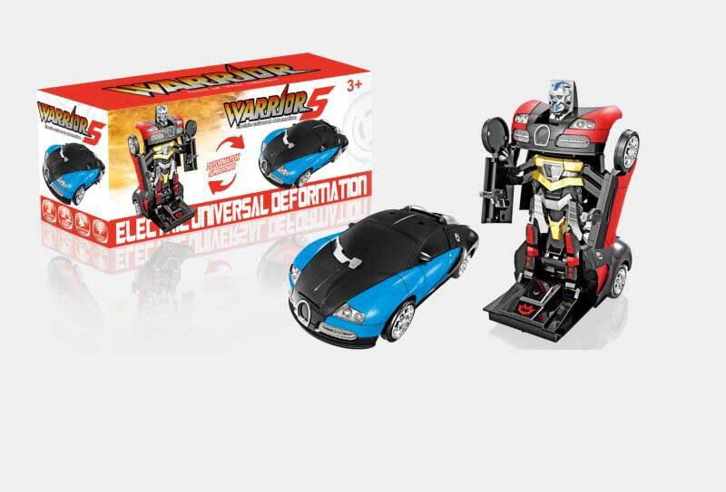 CHILDREN'S Electric Toy Car Music Light Electric Deformation Robot Race Car Toy Supply Of Goods