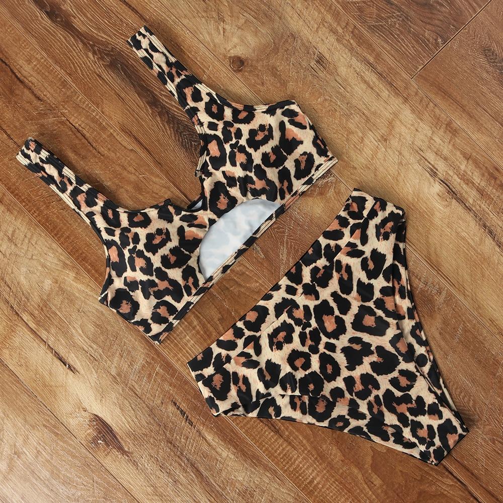 Leopard High Waist Bikini 2020 Women Bikini Push Up Tie Dye Swimsuit Female Plus Size Swimwear Women Micro Biquini Beachwear