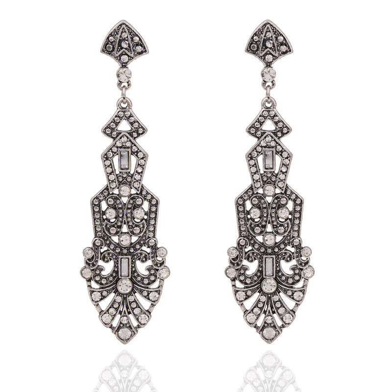 Hd852047a549e4a63a9101c5d4d71ecd78 - Women's Great Gatsby Vintage earrings party accessories bridal wedding jewellery costume