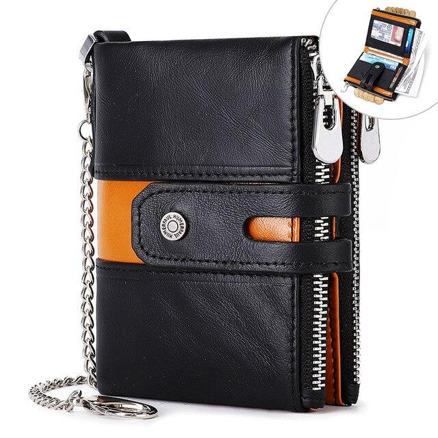 Men's Genuine Leather Mini Wallet