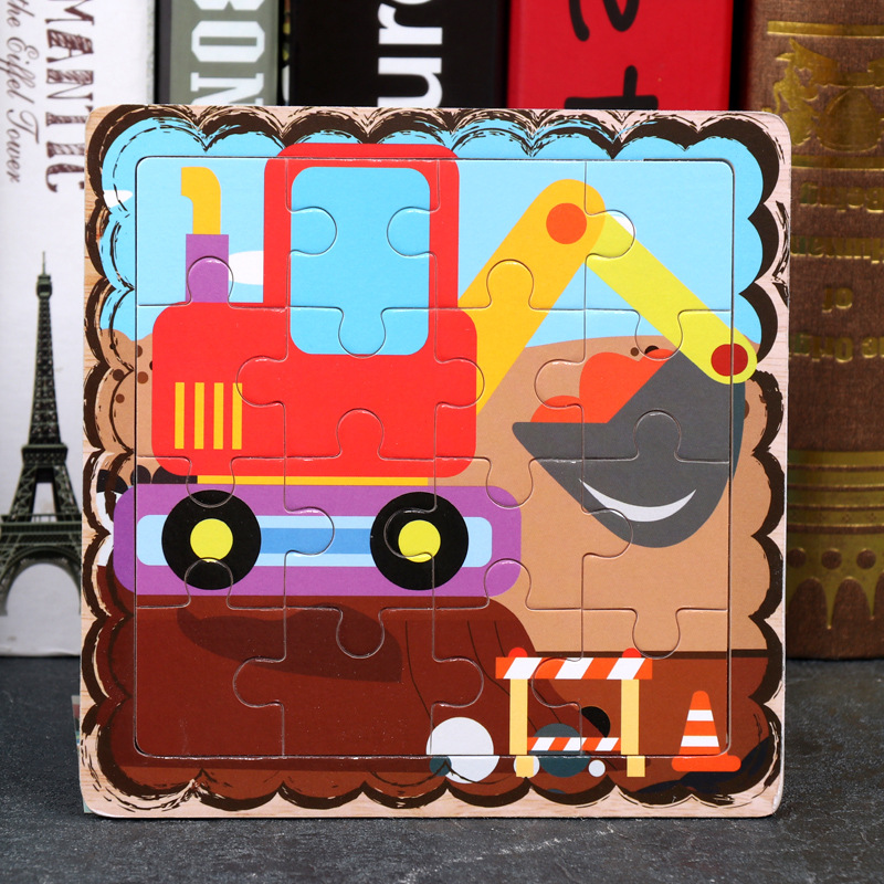 Wood Puzzles Children Adults Vehicle Puzzles Wooden Toys Learning Education Environmental Assemble Toy Educational Games 32