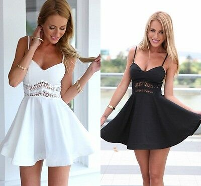 Fashion Womens Ladies Stylish Sexy Sleeveless V Neck Tube Tops Summer Party Cocktail Casual Mini Large Swing Sling A-line Dress