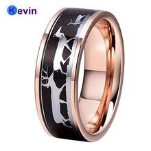 Обручальное кольцо из розового золота для мужчин и женщин мужское