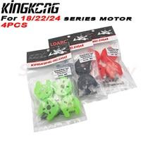 4 uds/1 paquete KINGKONG Motor Universal cubierta protectora para 18 22 24 de Motor de la serie verde rojo negro material de PP para RC espaà a