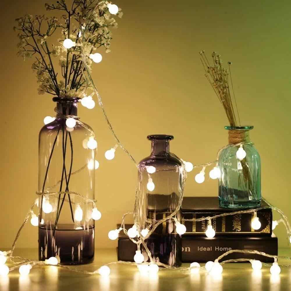 Fée lumières intérieur 1.5M 3M 10M guirlande boule lumière LED chaîne batterie puissance guirlande à LED décoration pour lampe de fête de mariage