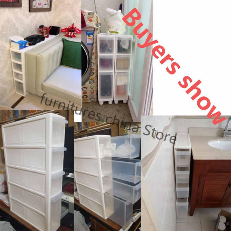 Cajones de baño de cocina, gabinetes de almacenamiento acolchados, gabinete de almacenamiento de inodoro, gabinete estrecho, combinación multicapa, gabinete plástico de almacenamiento