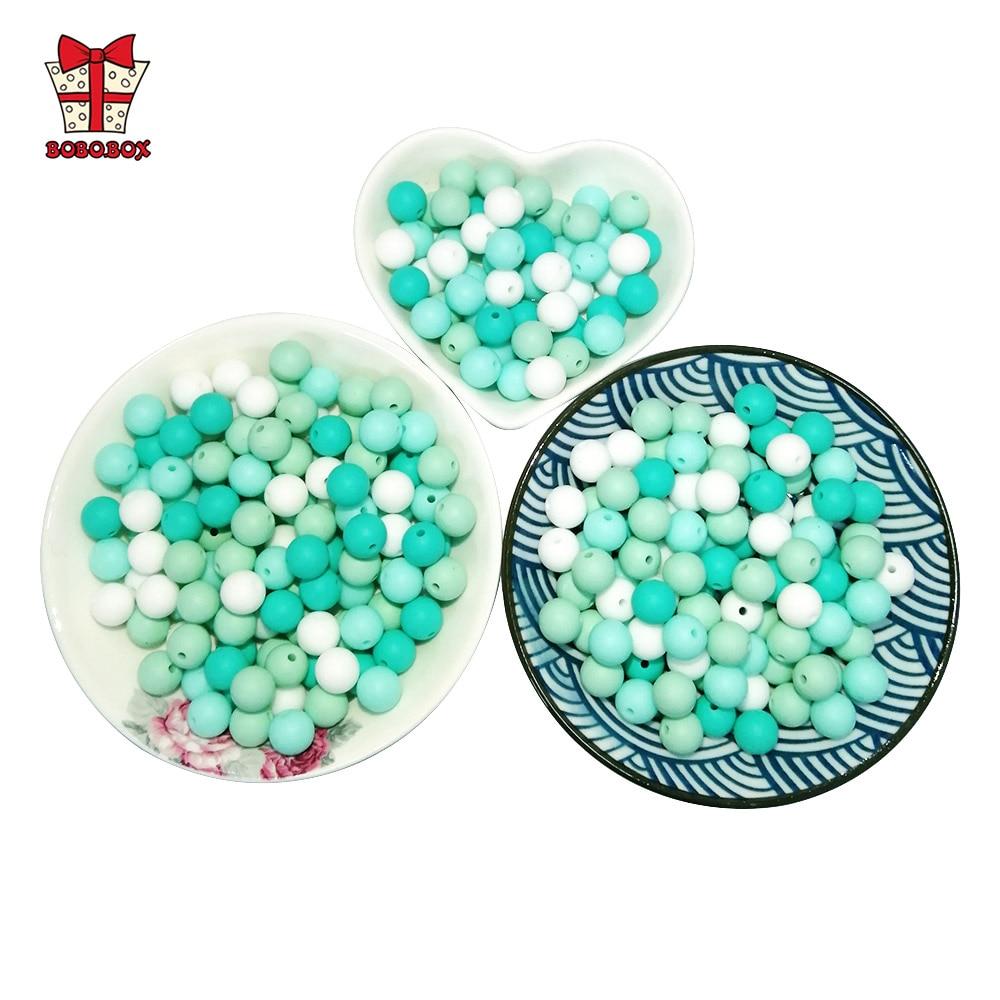 BOBO.BOX 300pcs Silicone Beads 9mm Eco-friendly Sensory Teething Necklace Food Grade Nursing DIY Jewelry Baby Teethers Wholesale