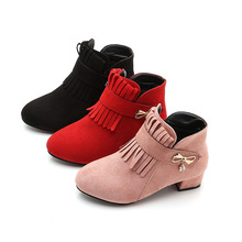 Buy Autumn Winter Children Kids Boots Girls Princess Shoes Girls Boots Winter Wedding and Party Shoes Pink Red Black 4 5 6 7 8-14T directly from merchant!