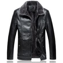 Jackets Men Winter Warm Men Fur Coat Faux Leather Jacket Bomber Jacket Turn-down Collar Mens Winter Coat Leatherr Jacket 5XL 6XL