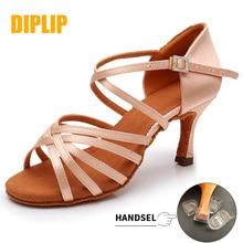 DIPLIP New Hot Latin Dance Shoes Womens High Heel Dance Shoes Tango Soft Bottom Dance Shoes 5 / 7cm Girls Salsa Ballroom Shoes