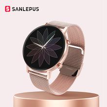 2021 nowy SANLEPUS inteligentny zegarek mężczyźni kobiety para miłośników Sport Smartwatch ciśnienie krwi Monitor tlenu krwi dla androida Apple tanie tanio CN (pochodzenie) Dla systemu iOS Na nadgarstek Zgodna ze wszystkimi 128MB Krokomierz Rejestrator aktywności fizycznej Rejestrator snu