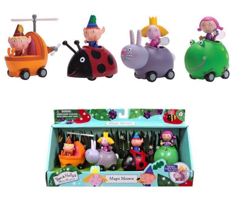 10pcs/set kawaii Cartoon Ben and Holly Anime Figures toy PVC Toys For Kid Best Birthday Gifts