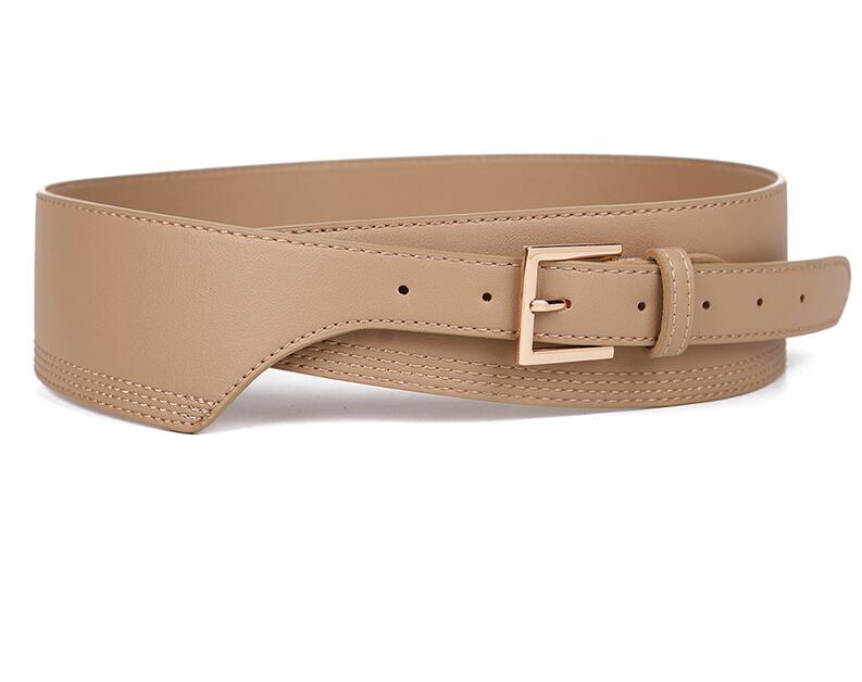 New Fashion Belts for Women PU Leather gold square pin buckle cummerbunds HOT body corset cummerbund female wide soft waistbands