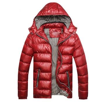 Parkas men drop shipping Fashion Thick Warm Men Winter Jacket Coat Hooded Warm Mens Winter Coat Casual Slim Fit Male Overcoat