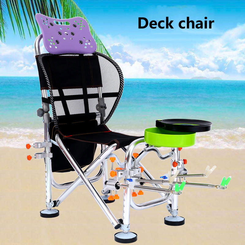 2019 New portable Multifunctional Fishing Chair Folding fishing Gear All terrain Deck chair Standard load bearing is 100kg