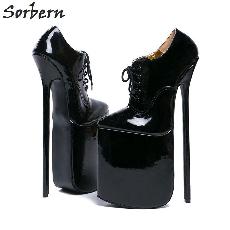 Sorbern Pointy Toe 12 Inch Heel Pumps