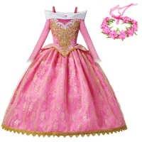 YOFEEL Fancy Party Princess Aurora Dress Girls Sleeping Beauty Costume Kids Pink Ball Gown Christmas Birthday Princess Costumes