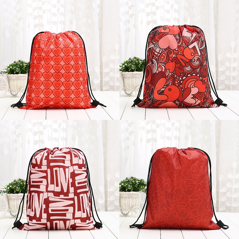 Hot Sale Drawstring Bag Sack Flower  Outdoor Backpack Bags Linen Drawstring Bag  Free Shipping