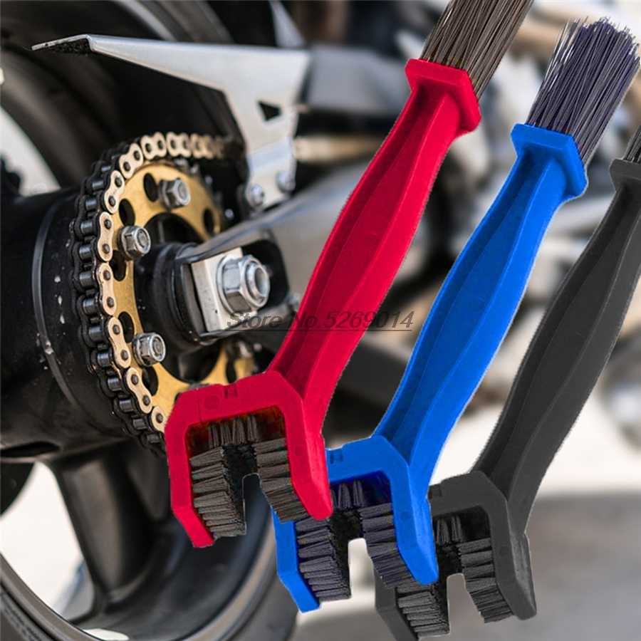 Rantai Sepeda Motor Sikat Cleaner Mencakup untuk Honda Varadero Xl1000 Cb1000r Jalan Raja Harley Kawasaki H2 GSX 1400 Yamaha KTM