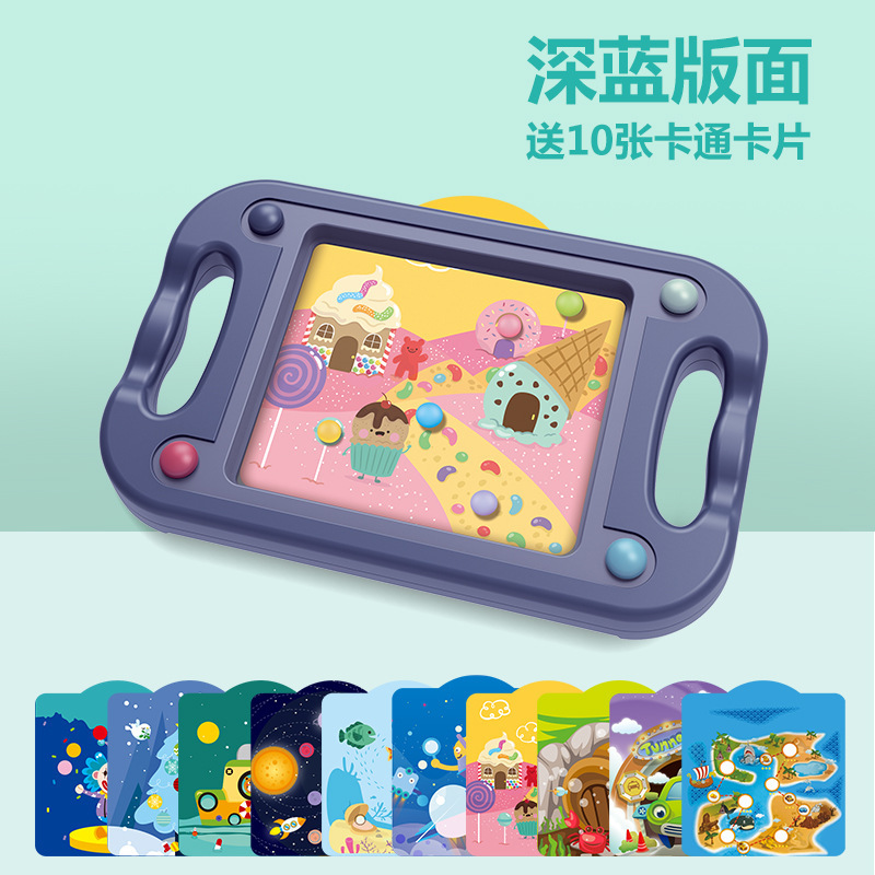 Double-Sided Dual Purpose Children Note Force Training Toy Maze Toy Roll-on Boys And Girls