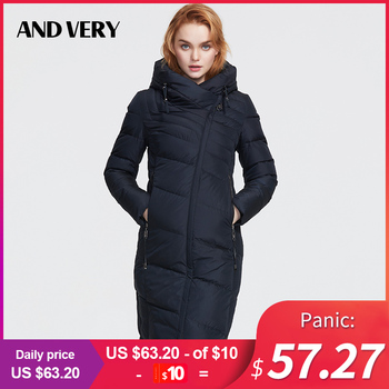 ANDVERY2019 Winter new arrival winter jacket women new style fashion coat thick cotton long winter warm big size coat women 8179