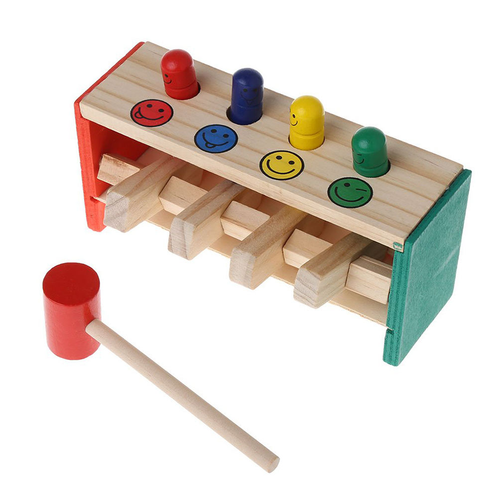 Kids Toys Wooden Colorful Hammer Educational Toy Baby Percussion Drum Musical Instruments Playing Instrument Gift Puzzle Toy #30