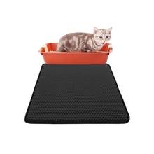 Waterproof Pet Cat Litter Mat Foldable EVA Double-Layer Cats Bottom Non-slip Layer Catcher