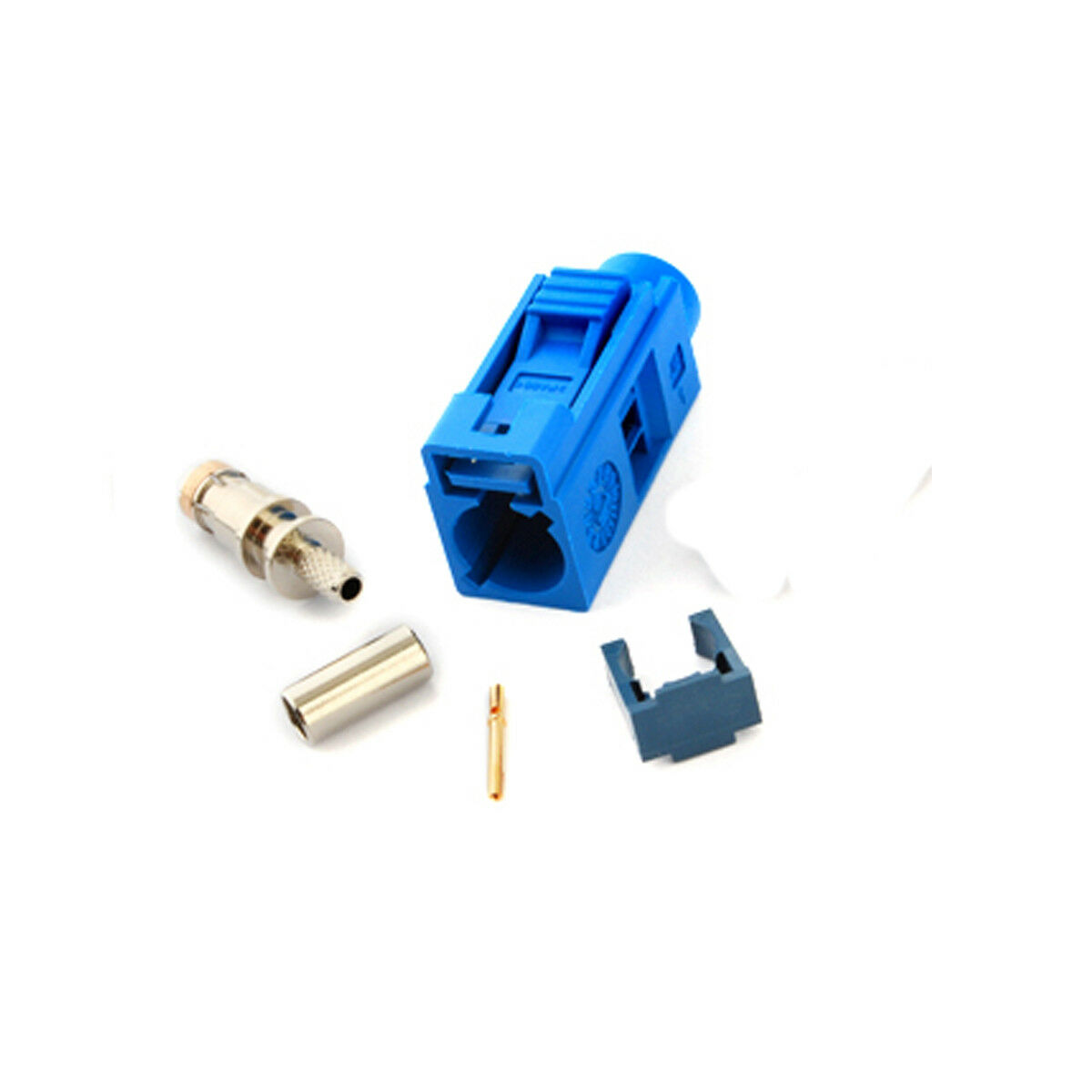 YiNiTone Fakra C Blue/5005 Female Jack Connector Crimp For Cable RG316 For GPS Antenna Telematics&navigation