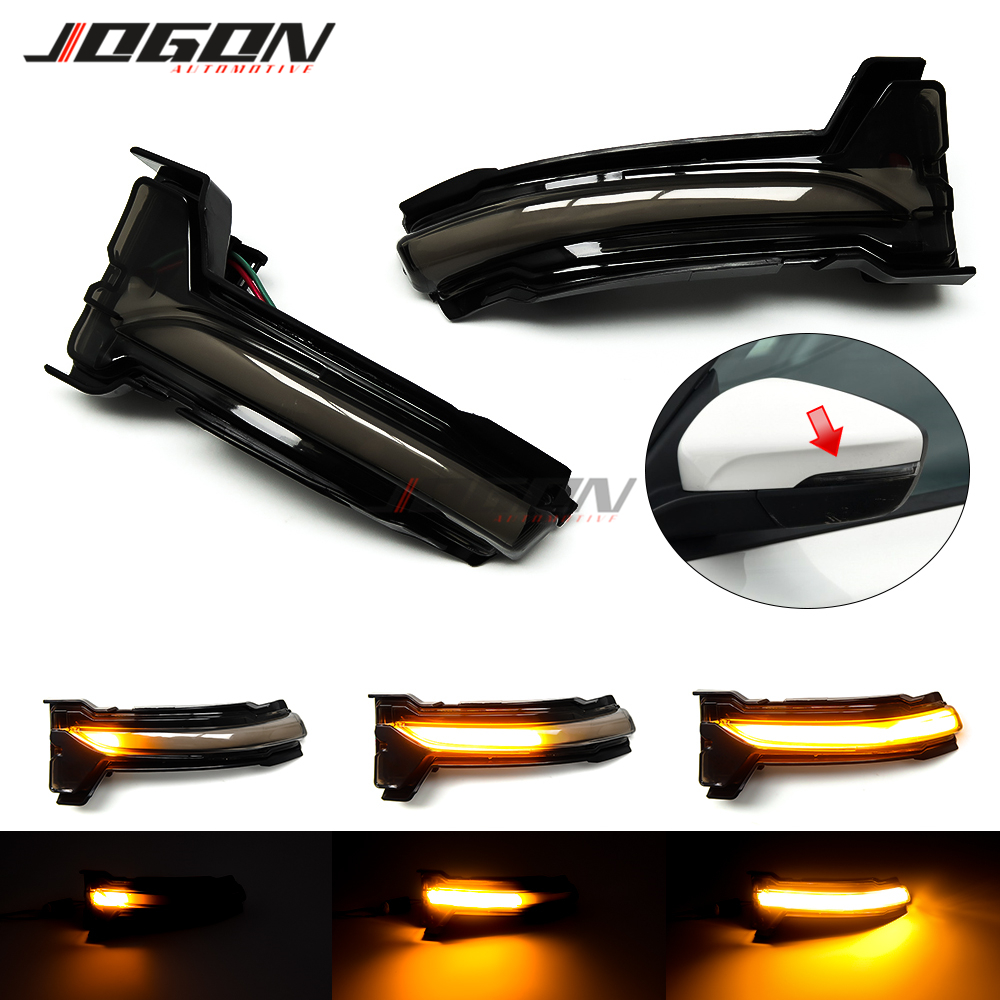 For Ford Focus 4th. 2019 2020 Car Side Wing Rearview Mirror LED Dynamic Turn Signal Indicator Sequential Light Accessories