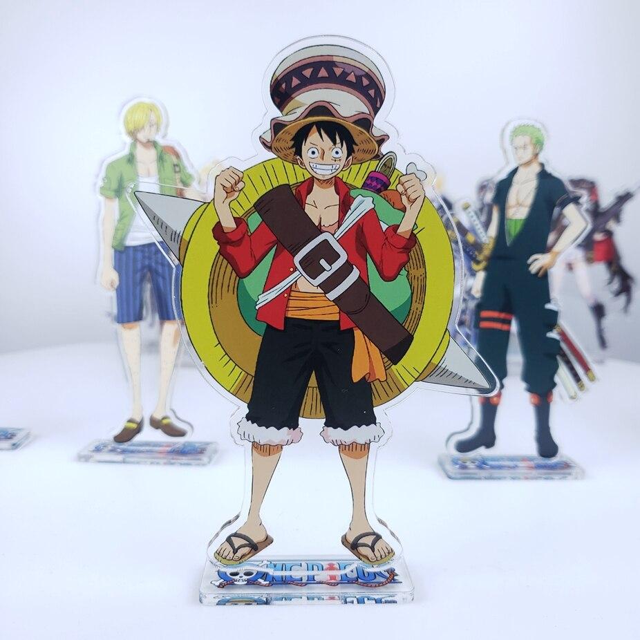 Anime One Piece Monkey D. Luffy Vinsmoke Sanji Roronoa Chopper Acrylic Stand Figure Decoration Cosplay Desk Decor Gift 15cm