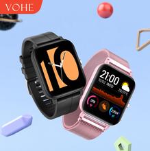 VOHE 2020 inteligentny zegarek wodoodporny mężczyzna kobiet Smartwatch zespół Sport Fitness bransoletka pulsometr dla xiaomi android ios tanie tanio CN (pochodzenie) Android OS Na nadgarstku Wszystko kompatybilny 128 MB Passometer Fitness tracker Uśpienia tracker
