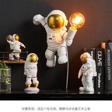 Astronaut Wall Lamp Nordic Postmodern Designer charging Wall lamp Astronaut Desktop Storage Ornaments Boy Lamp