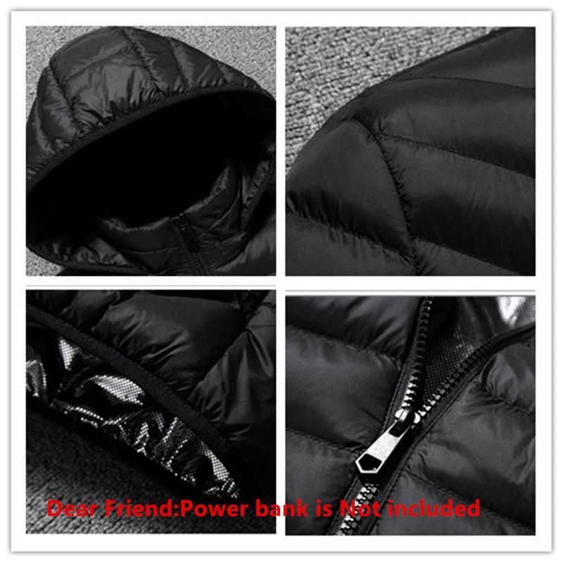 Men Waterproof Heated Winter Warm Electric USB Jacket Infrared Winter Men Smart Outdoor Heating Hooded Parkas Warm Thermal Coat Men Men's Clothings Men's Sweaters/Coats/Jackets cb5feb1b7314637725a2e7: black Blue Red