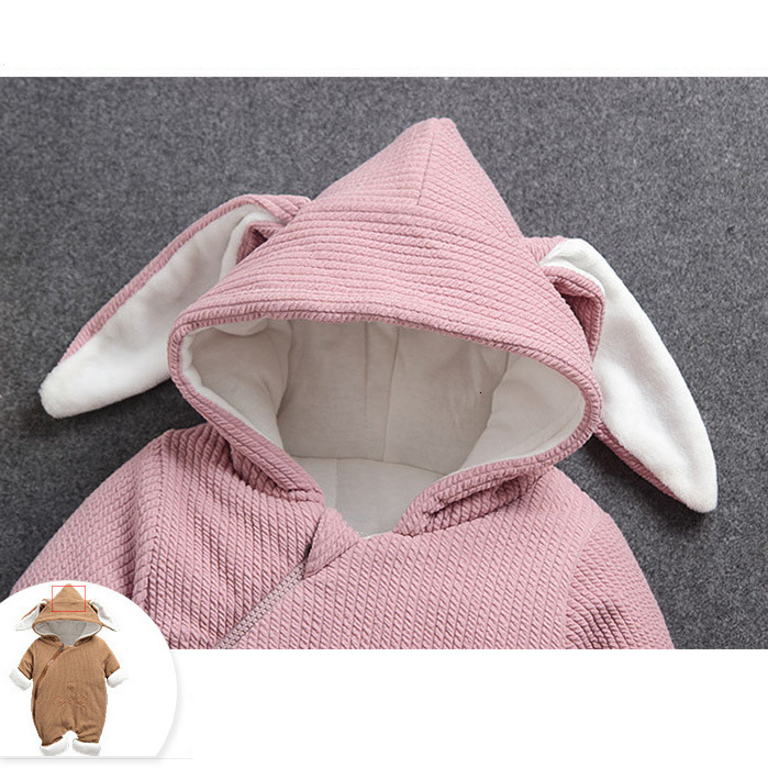 Hd85449aeb8634b70b8d78c718340052eU 2019 New Russia Baby costume rompers Clothes cold Winter Boy Girl Garment Thicken Warm Comfortable Pure Cotton coat jacket kids