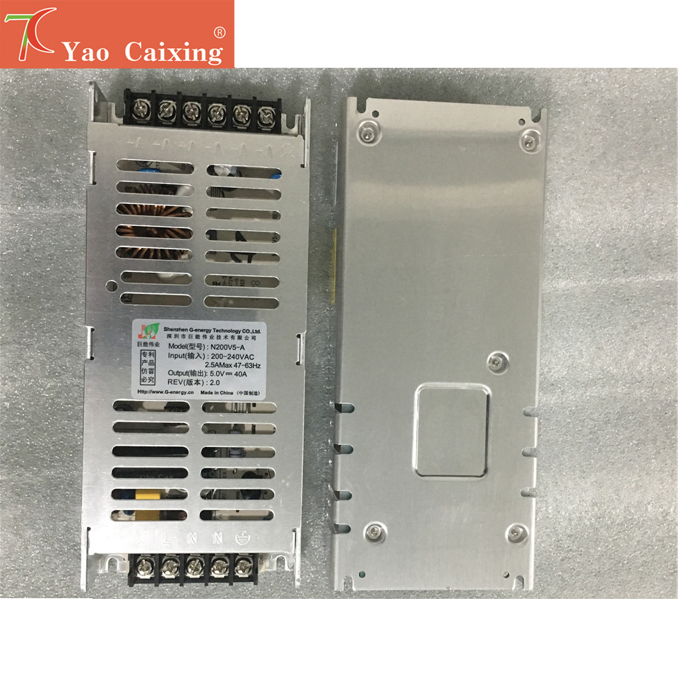 LED Display Dedicated Power Supply  5V40A 200W,can Control 6 Pcs P2.5/p3/p4/p5/p6/p8/p10 Modules